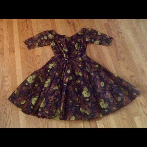e8130e9555608 Dresses | Gorgeous Vintage 1950s Full Circle Skirt Dress | Poshmark