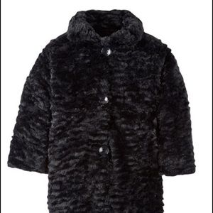 Widgeon Black Faux  Fur Coat