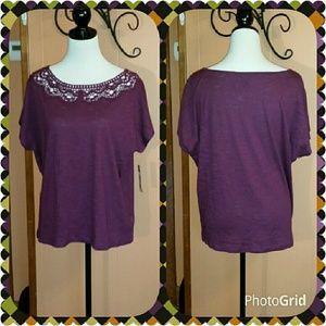 Chaps Tops - Pretty purple top.