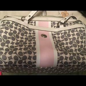 Handbags - Pink and white coach purse