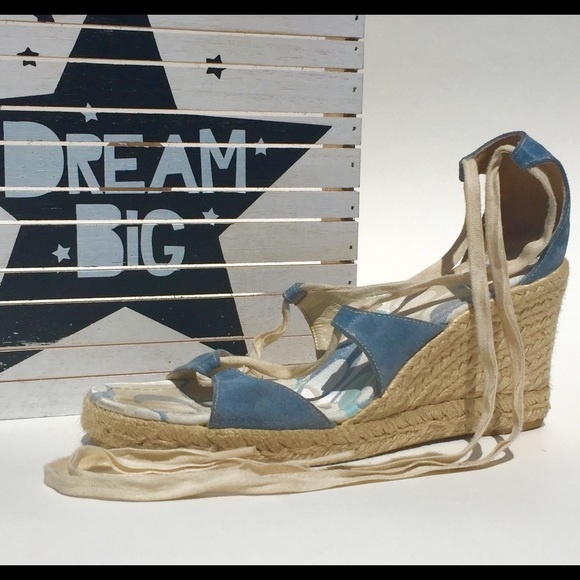 Coach Shoes Baby Blue Wedges