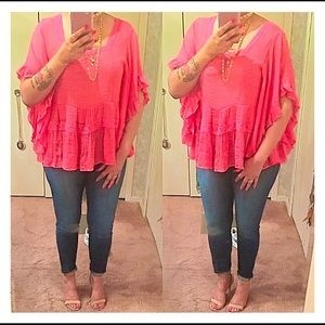 Tops - Solid Gauze Peasant Blouse