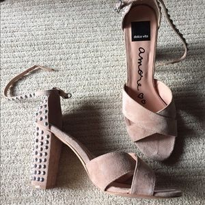 Amore Dolce Vita Shoes- sandals - 10- blush suede