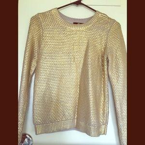 H&M gold jumper