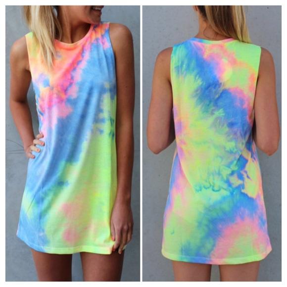d3bb4fe735917 Tie dye dress shirt cover up