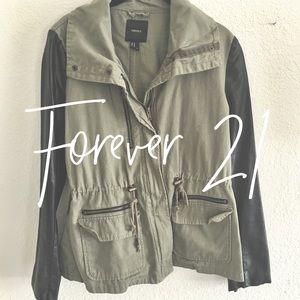Forever 21 / leather utility jacket