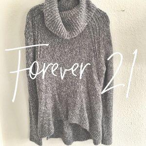 Forever 21 / gray turtleneck sweater