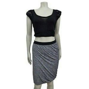 Anthropologie Deletta dye draped pencil skirt Sz S