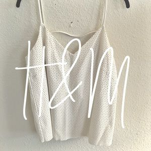 H&M / white leather tank