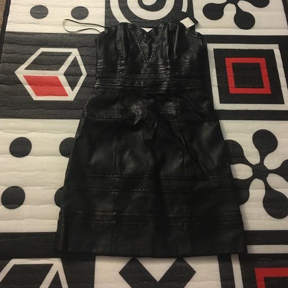 ba2bdd623 Guess Dresses | Strapless Fauxleather Bodycon Dress | Poshmark