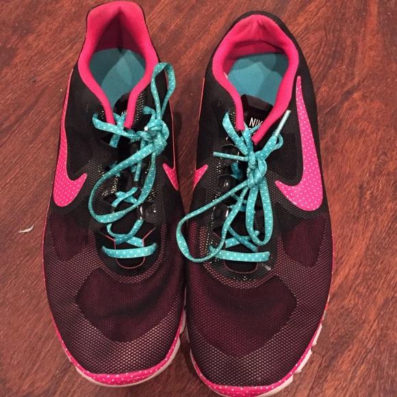 nike free pink turquoise