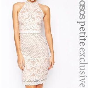 ASOS Petite Dresses & Skirts - PETITE Body-Conscious Dress - Lace with High Neck