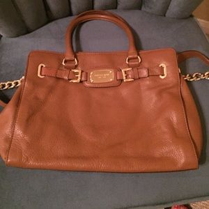 Micheal kors cognac leather handbag