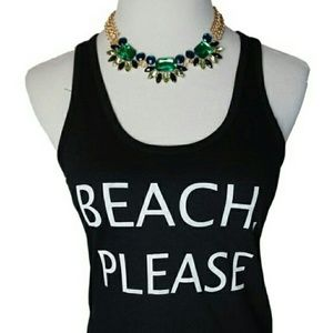 """Iconic Legend Tops - NWT """"Beach, Please"""" Tank Top"""