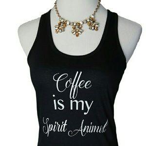 Iconic Legend Tops - NWT Coffee is My Spirit Animal Tank Top