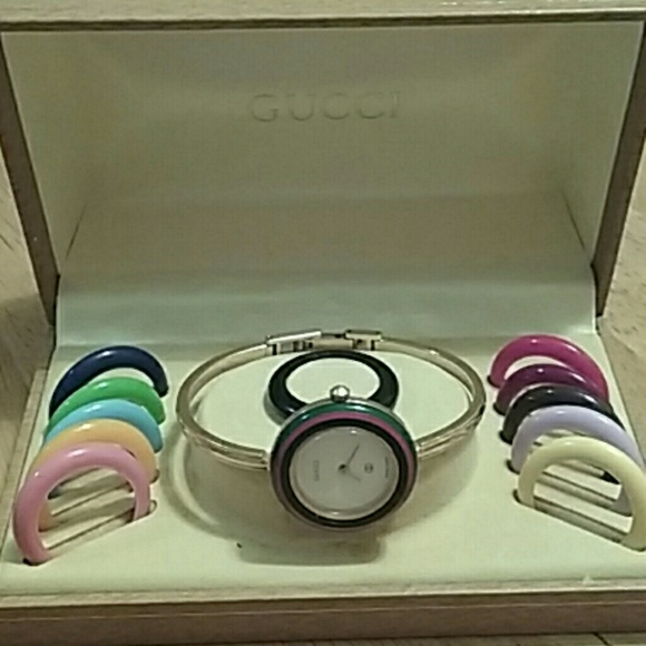 b3ab32b253e Gucci Accessories - Vintage Gucci watch with interchangeable face