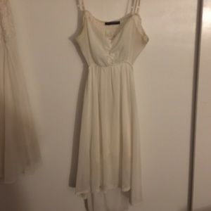 Classic brandy Melville cut out white dress