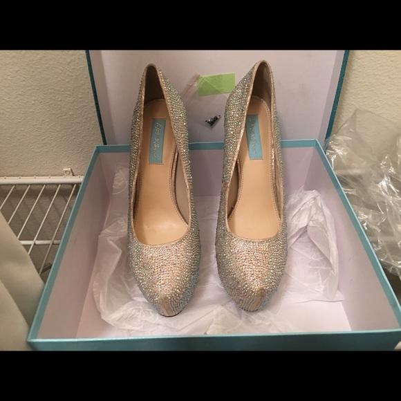 Betsey Johnson Rhinestone Heels | Poshmark