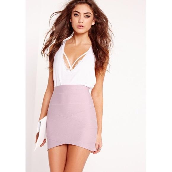 8e30ab170e60 Missguided Skirts | Asymmetric Bandage Mini Skirt | Poshmark