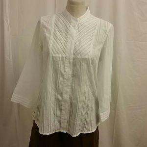 Orvis  Tops - Orvis light cotton 3/4 Sleeve white Blouse S