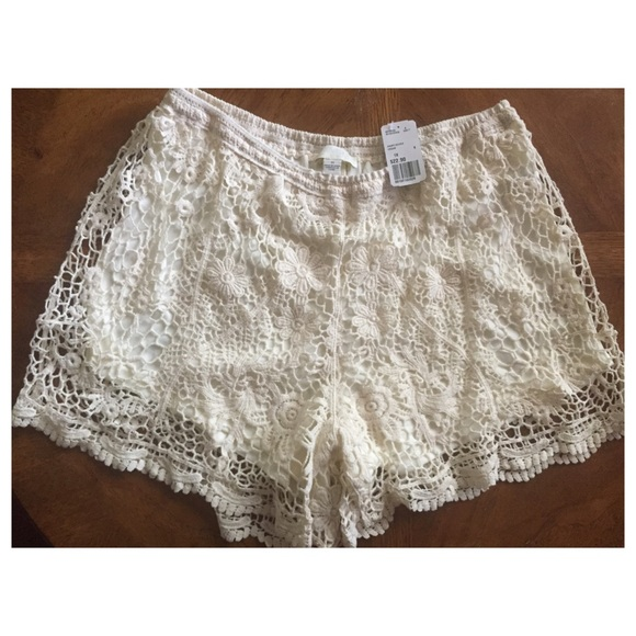 35% off forever 21 pants - forever 21 plus size lace shorts from