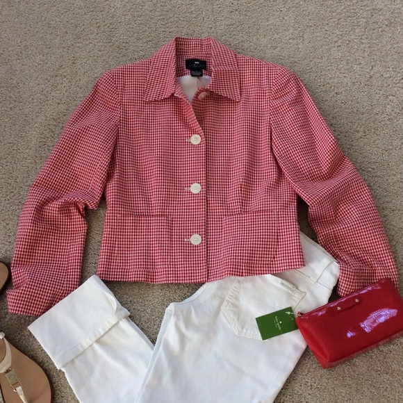 086c78eef2c56 The Limited red & white gingham check jacket. M_57444f932fd0b7e4e5000a9d