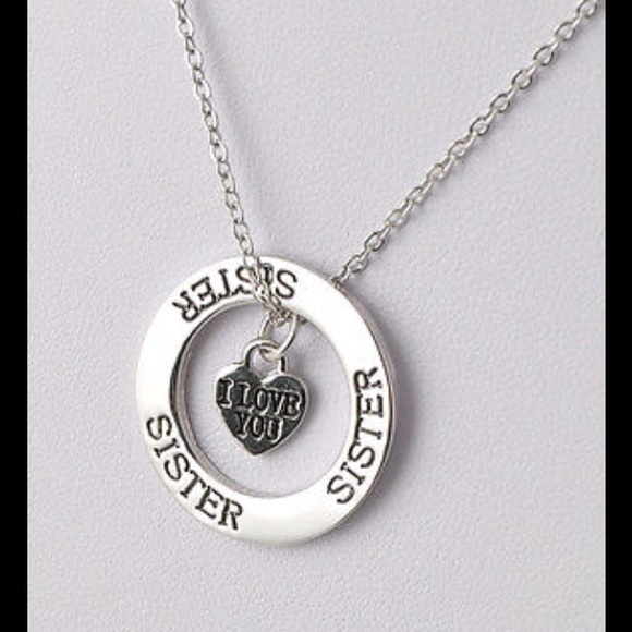 Cute jewelry sweet love quote sister pendant necklace new 18 m57444fbe522b45e8be000ae4 aloadofball Image collections