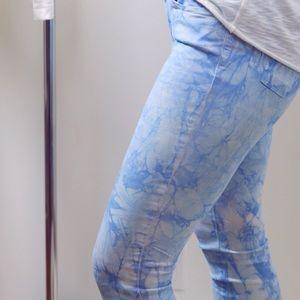 Boutique Pants - Blue Sky Tie Dye Skinnys *LAST 1!