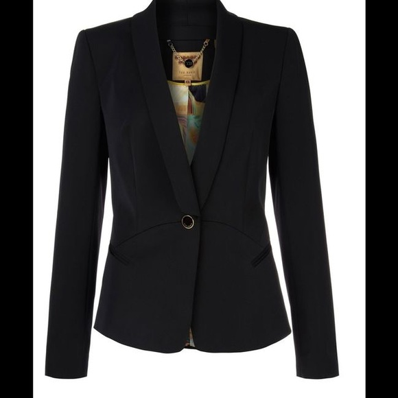 Ted Baker Jackets Amp Coats Black Heila Curved Seam Suit