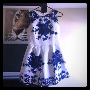 Stunning Embroidered Sleeveless Floral Mini Dress