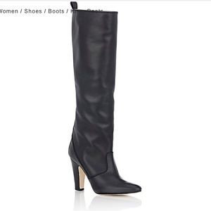 Manolo Blahnik Shoes - NEW manolo blahnik / leather knee high boot