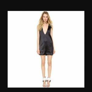 Solace London Aurora Black Mini Dress