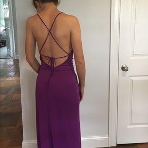 Bcbgmaxaria long purple dress