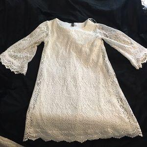 H&M White Lace Babydoll Dress