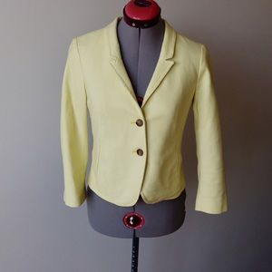 LOFT Jackets & Blazers - LOFT Cotton blend soft yellow blazer jacket