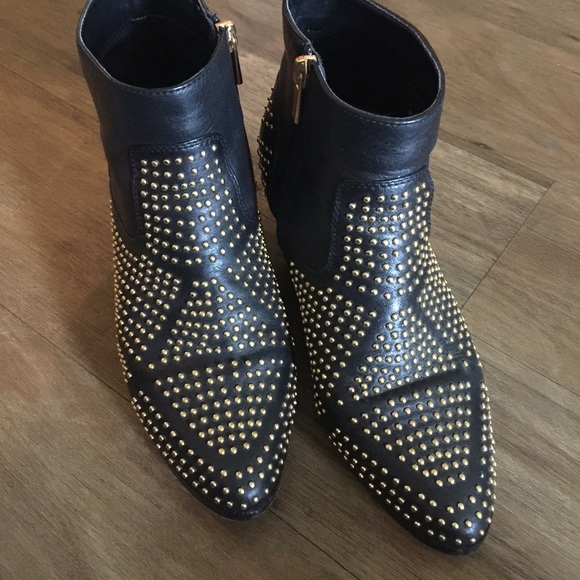 486e31191785f Dolce Vita Shoes - Dolce Vita gold studded booties. Size 8.