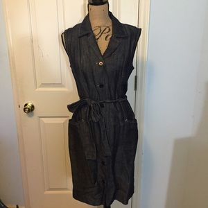 Talbots denim dress sleeveless.
