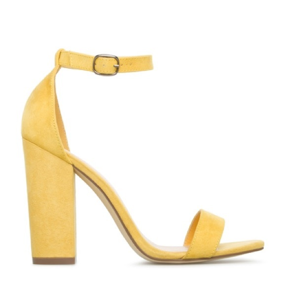 62% off Boutique Shoes - Yellow Block Heel Single Sole Sandal from ...