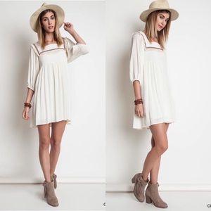 Cream Boho Dress