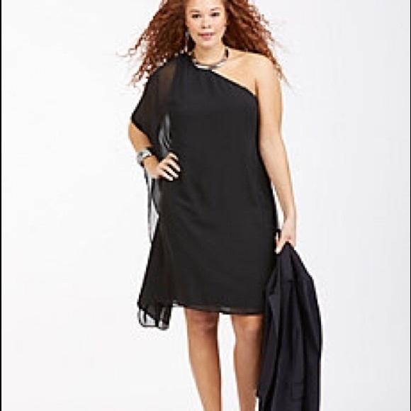 1db9d8b6cfc Lane Bryant Dresses   Skirts - One shoulder flowy plus size formal dress
