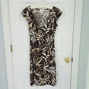 Loft cap sleeve wrap dress