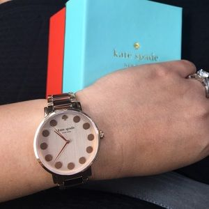 Kate Spade New York Gramercy dot bracelet watch