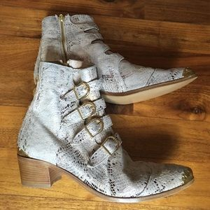 Modern Vice Shoes - Modern Vice Snake Print Leather Boots (custom)