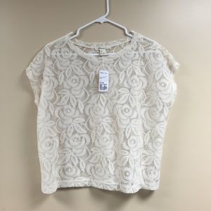 Forever 21 Tops - Basic lace tee
