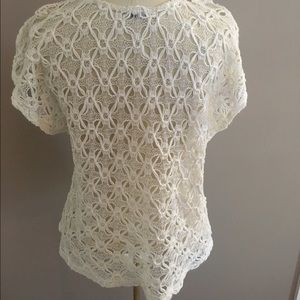 Ivory colored Lacey top