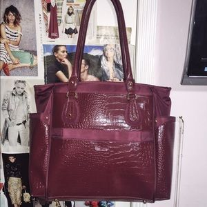 Handbags - Red Burgundy Oversized Tote Bag - Open to offers