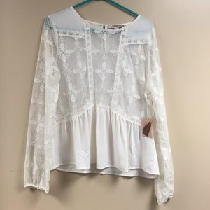 Forever 21 Tops - Sheer lace top