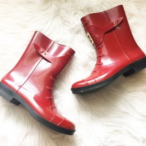 Authentic Fendi Red Rainboots