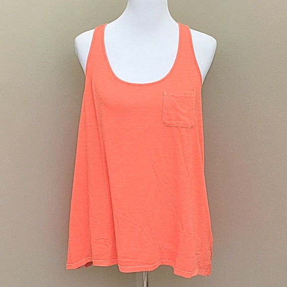 Lucky Brand Lotus Yoga Crossover Coral Tank