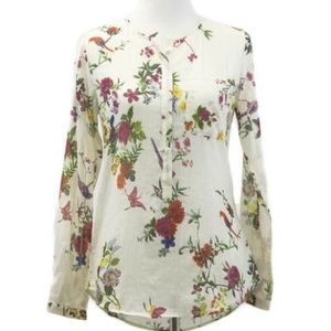 Relished Tops - 100% Cotton Tropical Garden Henley